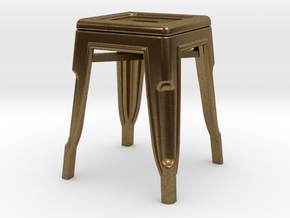 1:24 Low Pauchard Stool in Natural Bronze