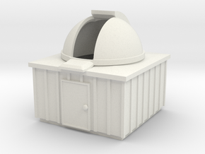 Z-scale Observatory in White Natural Versatile Plastic