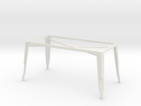 1:24 Pauchard Dining Table Frame, Large in White Natural Versatile Plastic