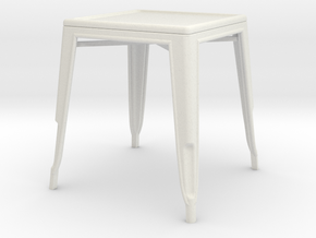 1:24 Pauchard Dining Table in White Natural Versatile Plastic