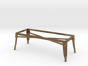 1:24 Pauchard Coffee Table Frame in Natural Bronze
