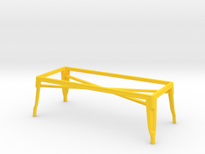 1:12 Pauchard Coffee Table Frame in Yellow Processed Versatile Plastic