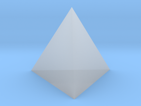 Tetrahedron in Smooth Fine Detail Plastic
