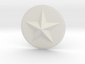 Captain America Upper Arm Star V2 in White Natural Versatile Plastic