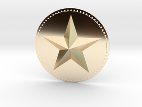 Captain America Upper Arm Star V2 in 14K Yellow Gold