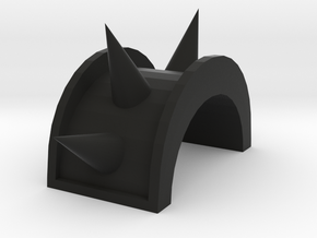 DD-Size Spikey Shoulders in Black Natural Versatile Plastic