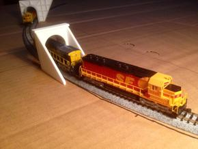 N-Scale Tehachapi Tunnel #10 - East in White Natural Versatile Plastic