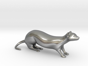 The Weasel Desk Toy in Natural Silver
