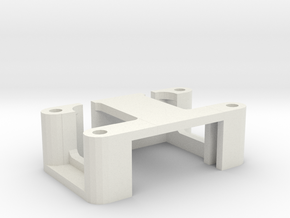 Servo Mount in White Natural Versatile Plastic
