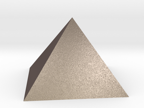 Pyramid Square Johnson J1 20mm  in Polished Bronzed Silver Steel
