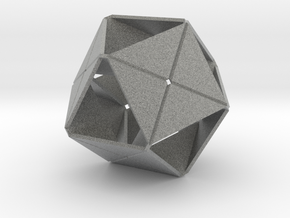 Octahedron of Folded Hexagons in Metallic Plastic