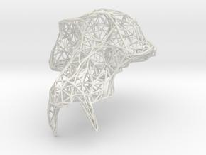 GrandSinge Wireframe in White Natural Versatile Plastic