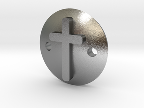 Cross bracelet in Natural Silver