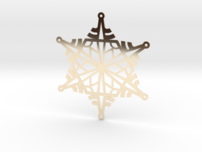 Arcs Snowflake - Flat in 14K Yellow Gold