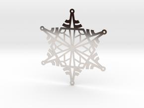 Arcs Snowflake - Flat in Platinum