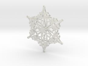 Arcs Snowflake - 3D in White Natural Versatile Plastic