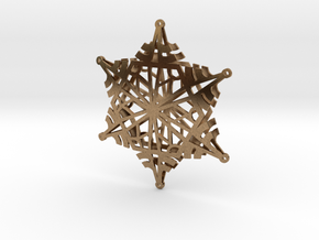 Arcs Snowflake - 3D in Natural Brass
