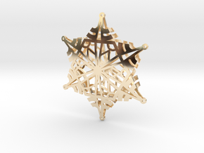 Arcs Snowflake - 3D in 14K Yellow Gold