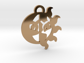 Medallion of Celestia and Luna in Polished Brass