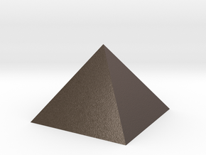 Pyramid Square Johnson 40mm Hollow  in Polished Bronzed Silver Steel