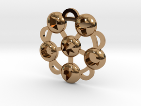 Elements Of Harmony Medallion in Polished Brass