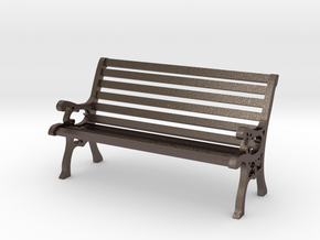 Park Bench 1:20 Scale in Polished Bronzed Silver Steel