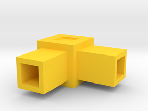 Assembly Parts Small C2 in Yellow Processed Versatile Plastic