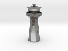 Z Scale European Water Tower in Raw Silver