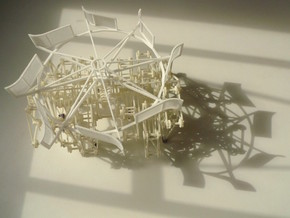 Improved Turbine - Strandbeest Addon (ver2) in White Natural Versatile Plastic