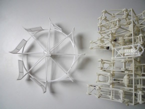 Turbine version 2(part only) in White Natural Versatile Plastic