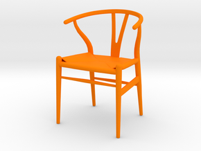 Carl Hansen And Son Wishbone Chair Miniature in Orange Processed Versatile Plastic