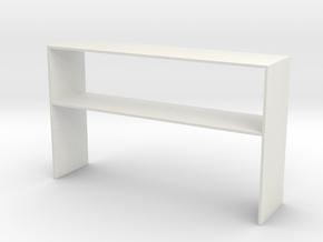 Over Desk Cabinet 1 Close in White Natural Versatile Plastic