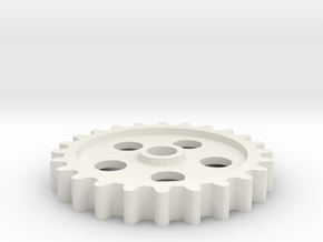 Gear 4 in White Natural Versatile Plastic