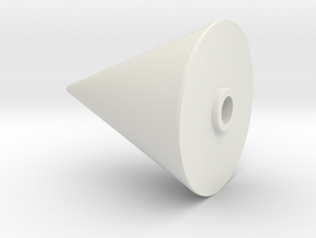 JP Rocket Nose Cone in White Natural Versatile Plastic
