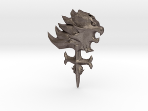 Final Fantasy 8 Griever Pendant in Polished Bronzed Silver Steel