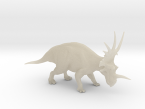Styracosaurus 1:40 scale model in White Acrylic