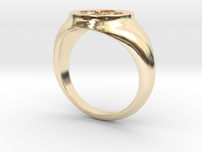 Signet Ring - Fleur De Lis in 14K Yellow Gold