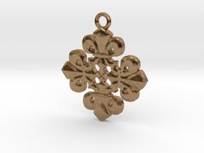 Fleur De Lis Pendant in Natural Brass