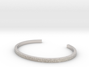 Hammered Bangle in Platinum
