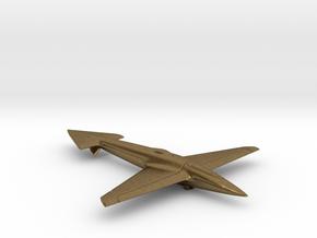 Uni-Dir Slim Plane Toy (88mm long) in Natural Bronze