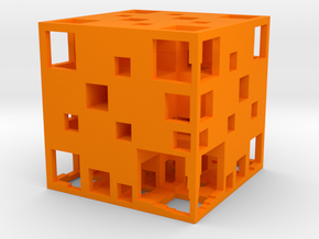 UA Menger Cube 40mm in Orange Processed Versatile Plastic