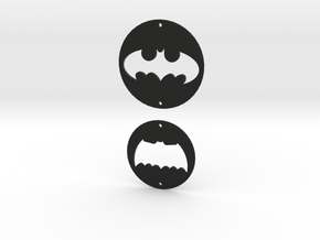 Batman Logo Charms 2 in Black Strong & Flexible