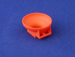 Marble Run Bricks: Funnel in Red Processed Versatile Plastic