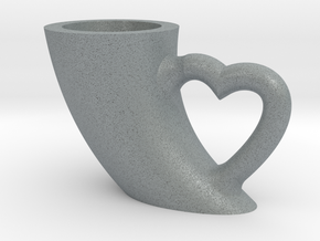 CUP in Polished Metallic Plastic