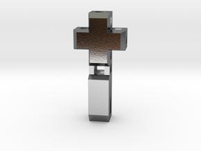 Realist cross in Polished Silver