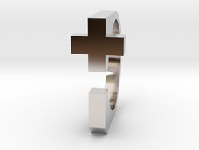 Realist cross ring size 8 U.S. in Platinum