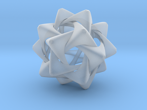 Compound of Five Rounded Tetrahedra in Smooth Fine Detail Plastic