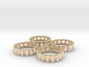 Crinkled Napkin Rings (4) in 14K Yellow Gold
