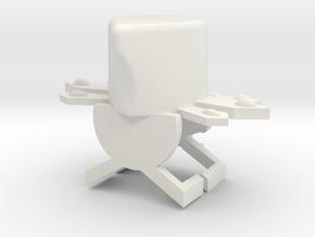 Cowl in White Natural Versatile Plastic
