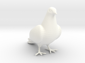 Bird No 2 (Dove) in White Processed Versatile Plastic